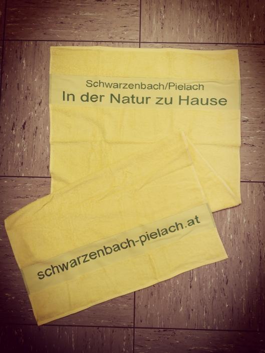 Badetuch gelb 70x140cm
